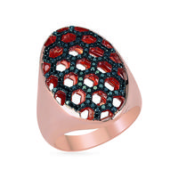 Swoonery-Queen Bee Honeycomb Ring