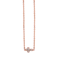 Swoonery-Tiny Pave Cross Necklace