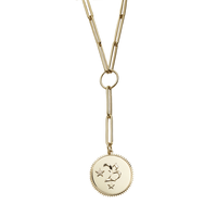 Alphabet Large Medallion Clip Choker