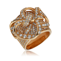 Swoonery-Rose Gold Lovely Bow Ring
