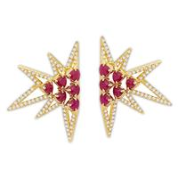 Swoonery-Shine earrings M - Ruby