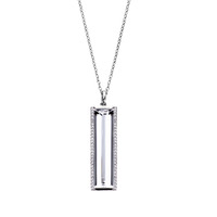 Swoonery-Vertical Baguette Necklace