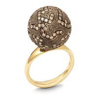 Swoonery-LARGE BROWN DIAMOND BALL RING