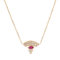 Swoonery-Michelle Fantaci Sensu Fan Marquis Necklace