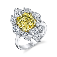 Swoonery-Fancy Yellow 4.85ct Asscher Cut The Vault Ring