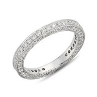 Three Sided Pave Band