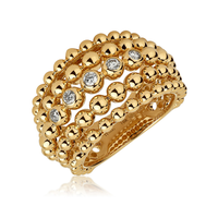 Swoonery-Big Yellow Gold Bubbles Ring