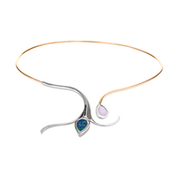 Swoonery-Rose Gold Severin Collar