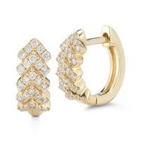 Kathryn Lynn Yellow Gold Hoop Earrings