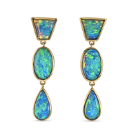 Swoonery-Classic Opal Earrings