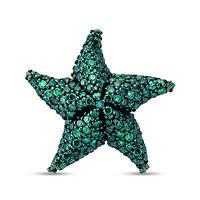 Swoonery-Aqua Light Starfish Single Earring