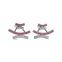 Yossi Harari Lilah Crisscross Ear Jackets