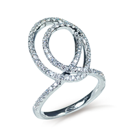 Swoonery-White Gold Talisman Eternity Knot Ring