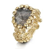 Swoonery-Coalescence Diamond Yellow Polki Ring