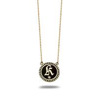 Swoonery-Petite Champleve Alphabet Medallion
