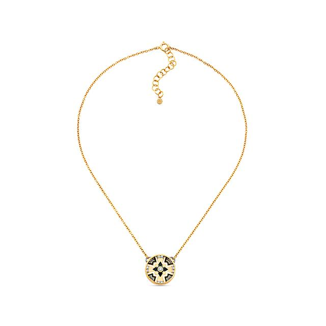 Swoonery-20K Cross Dome Necklace