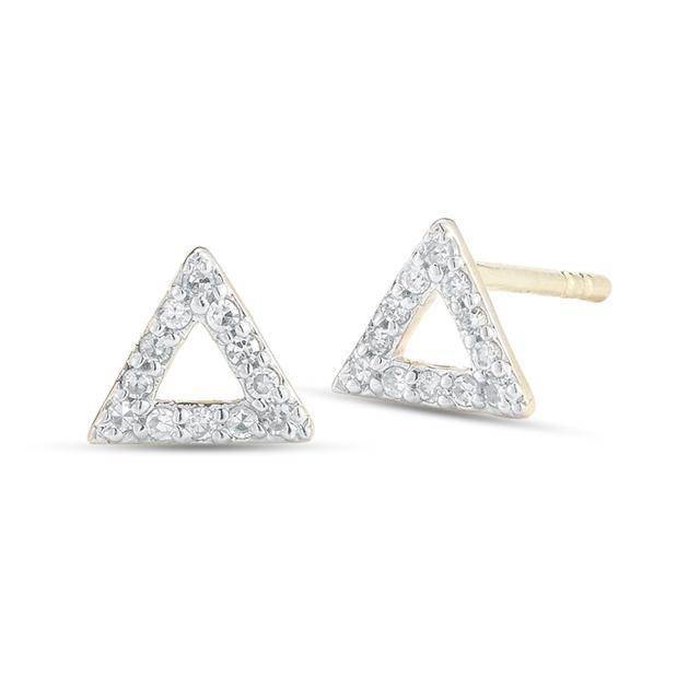Swoonery-Mini Diamond Triangle Stud
