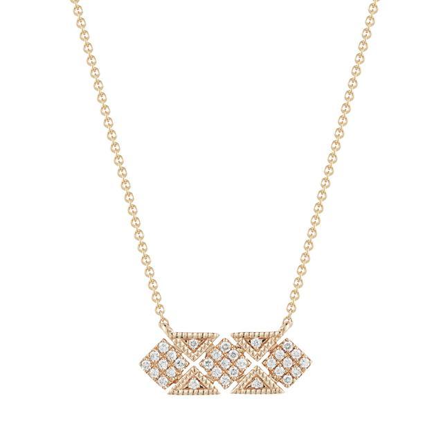 Swoonery- Jeanie Ann Hexagon Diamond Necklace