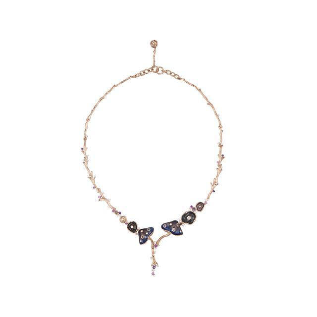 Swoonery-Enamel Mushroom Necklace