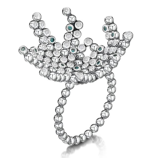 Swoonery-Coalescence Diamond Pure Cocktail Ring