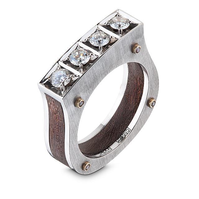 Swoonery-Mun Ebony Ring