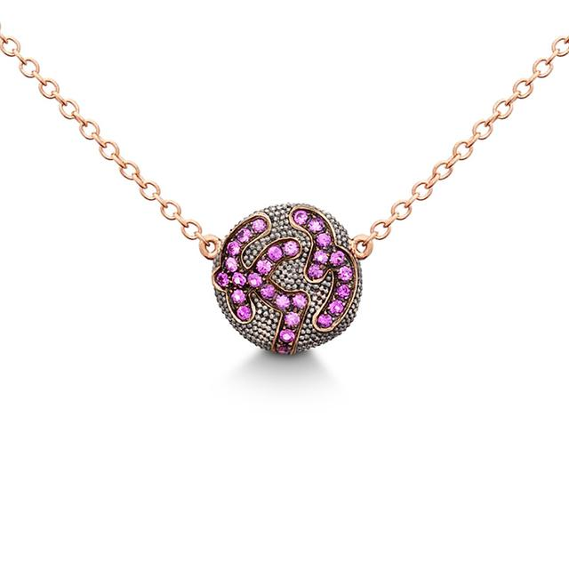 Swoonery-PINK SAPPHIRE PENDANT