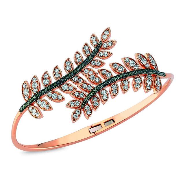 Swoonery-Diamond Feather Cuff