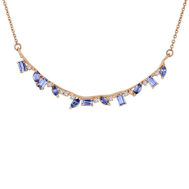 Swoonery-Tanzanite Bar Necklace