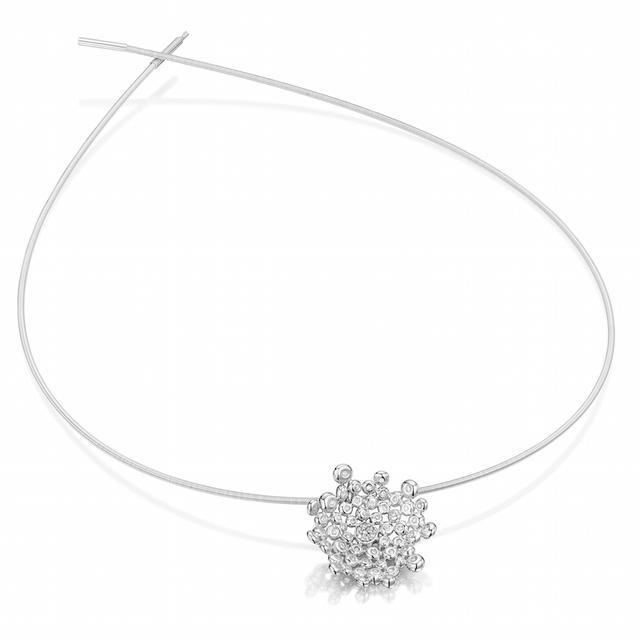 Swoonery-Coalescence Diamond White Gold Necklet