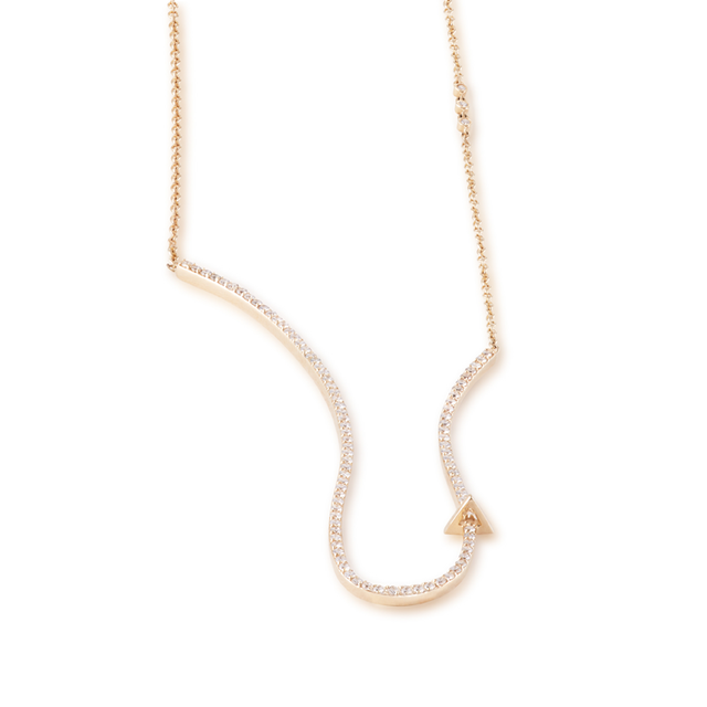 Swoonery-Open Diamond Pave Necklace