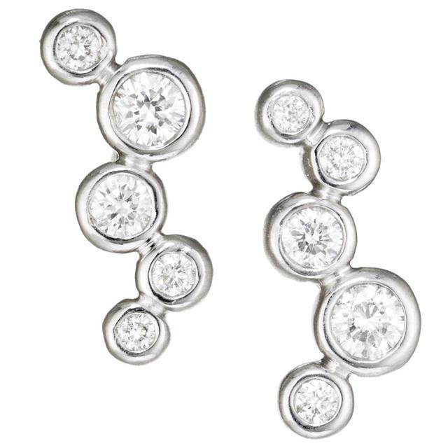 Swoonery-THROWING STONES DIAMOND CLIMBER EARRINGS