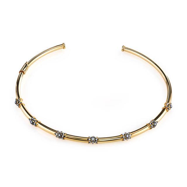 Swoonery-7 Star Gold Collar Choker