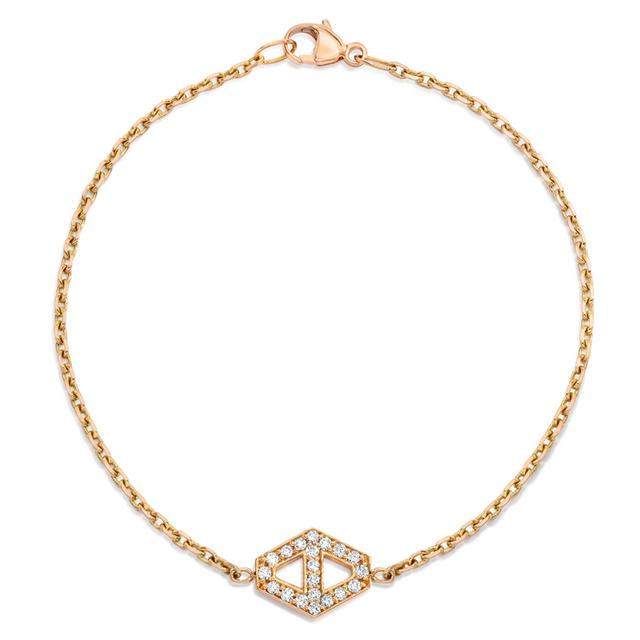 Swoonery-Keynes Small Diamond Hexagon Bracelet