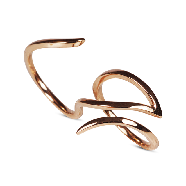 Swoonery-Rose Gold Le Phoenix Double-Finger Ring