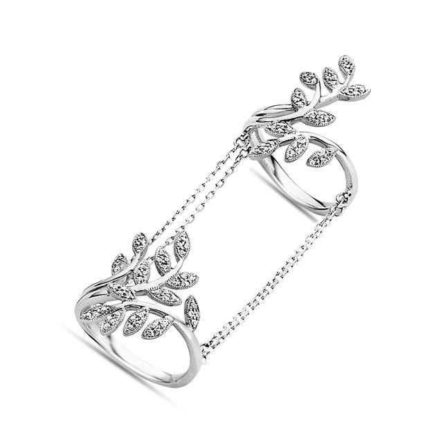 Swoonery-Leaves Double-Chain Ring