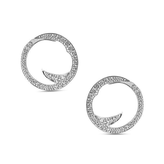 Swoonery-Thorn Stem Mini Hoop Earrings