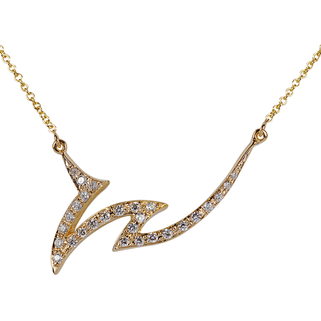 Swoonery-Le Phoenix Claw I Yellow Gold and Diamond Necklace