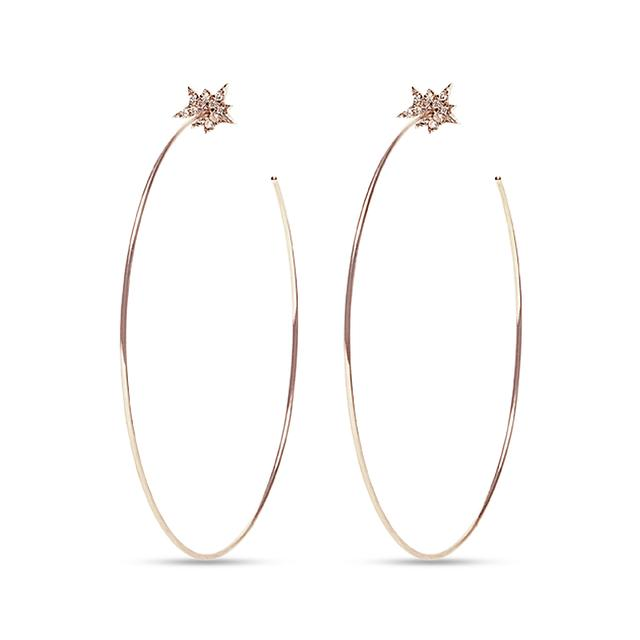 Swoonery-Explosion Hoop Earrings