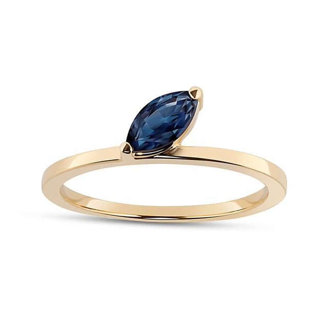 Swoonery-Sapphire Marquise Defne Ring