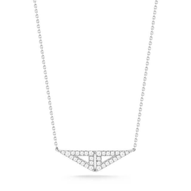 Swoonery-Aria Selene White Gold Necklace
