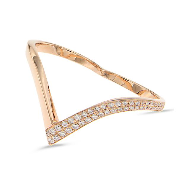 Swoonery-Double V-Shape Ring