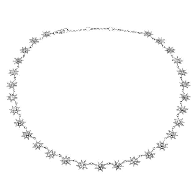 Swoonery-Glow Necklace with White Diamonds