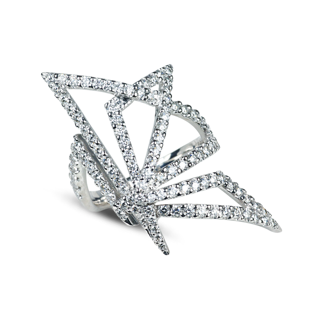 Swoonery-Origami Silhouette I Diamond Ring