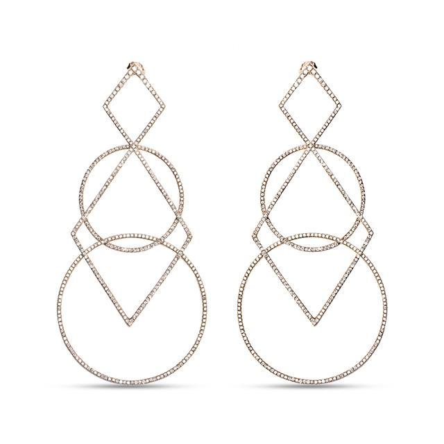 Swoonery-Diamond Geometric Earrings