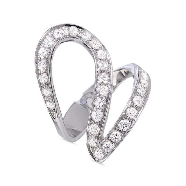 Swoonery- White Gold Ivy 1 Ring