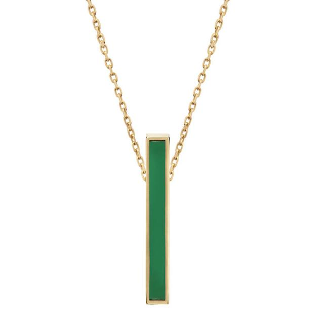 Swoonery-Vertical green enamel color bar