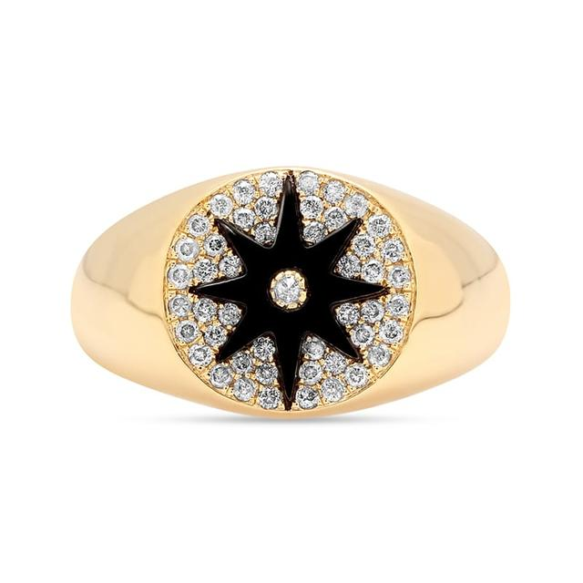 Swoonery-Star Signet Onyx Ring