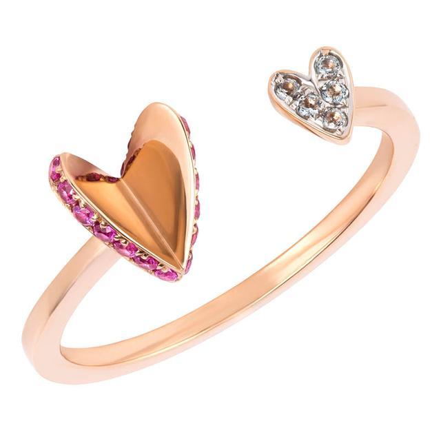 Swoonery-Flutter Heart Ring