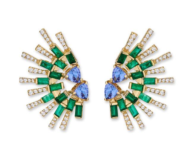 Swoonery-SunShine Mini earrings - Emerald