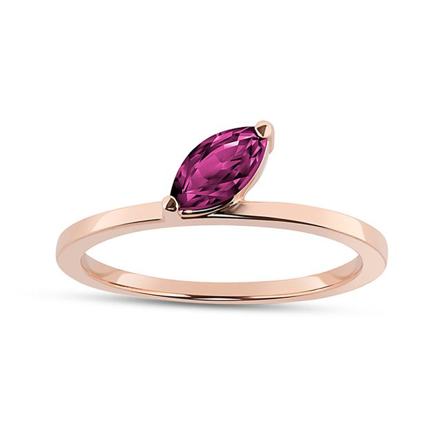 Swoonery-Ruby Marquise Defne Ring